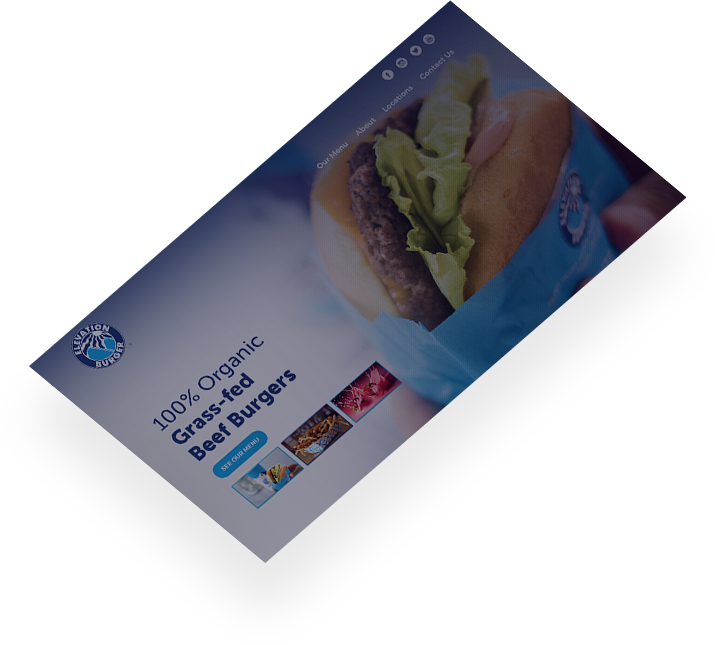 elevation burger web design